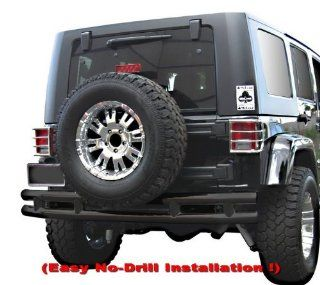 Premium Custom Fit 2007 2011 Jeep Wrangler Rear Bumper Black Automotive
