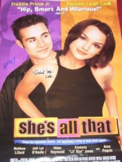 Freddie Prinze Jr. Rachel Leigh Cook She's All That Signed Autographed 27 x 40 Theatre Movie Poster Loa Entertainment Collectibles