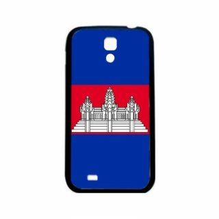Cambodia Flag Samsung Galaxy S4 Black Silcone Case   Provides Great Protection Cell Phones & Accessories