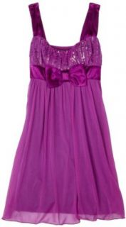 Ruby Rox  Girls 7 16 Caviar Top Dress,Purple/Violet,Large Clothing