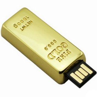 Ayangyang 16gb Cute Udisk USB Flash Drive Disk with Gold Bar Shaped Crystal U Disk Memory Size of 16 G Packet of 2 Computers & Accessories