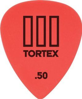 Dunlop 462P50 .50mm Tortex T3 Sharp Tip Guitar Picks, 12 Pack Musical Instruments