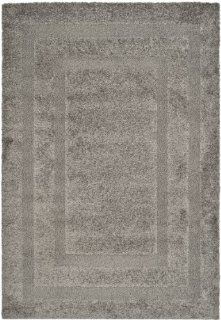 Safavieh Florida Shag Collection SG454 8080 Grey Shag Area Rug, 3 Feet by 5 Feet   Round Rug