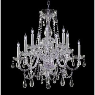 Crystorama Lighting Group 130 CH Three Light Foyer Pendant from the Calypso Collection, Polished Chrome   Chandeliers