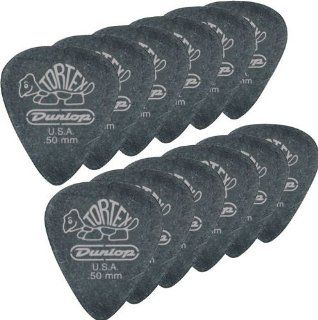 Dunlop 488P114 1.14mm Tortex Pitch Black Guitar Picks, 12 Pack Musical Instruments