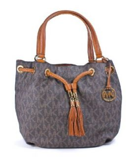 Michael Kors Jet Set Gathered Large Tote Handbag in Brown Shoes