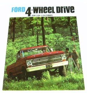 1968 68 FORD 4WD 4x4 Pickup Truck BROCHURE F100 F250  Prints