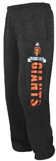 San Francisco Giants Men's Whole New Game Open Bottom Baseball Sweatpants by Majestic (S 30 31)  Sports Fan Pants  Sports & Outdoors