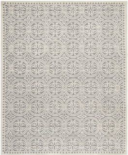 Shop Safavieh CAM123D Cambridge Collection Handmade Wool Area Rug, 6 by 9 Feet, Silver/Ivory at the  Home D�cor Store
