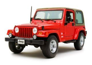 Model Car JEEP WRANGLER SAHARA (Red) 1/18 Die cast Minicar Japanese Model Cars Toys & Games