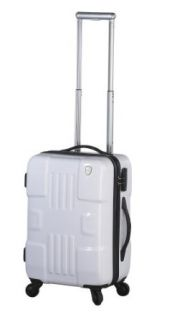 Heys USA Luggage Forza 20.5 Inch Hard Side Carry On Suitcase, White, One Size Clothing