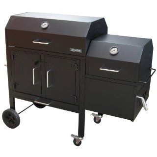 Landmann 590135 Black Dog 42XT BBQ Charcoal Grill and Smoker, 506 Square Inch, Black  Freestanding Grills  Patio, Lawn & Garden