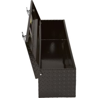Aluminum Flush-Mount Side-Bin Truck Box — Black, 48 1/2in.L x 12 1/2in.W x 10 1/2in.H  Side Mount Boxes