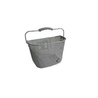 MTS Basket with Bracket Silver, Front Quick Release Basket, Removable, Wire Mesh Bicycle basket, NEW, Silver  Bike Baskets  Sports & Outdoors