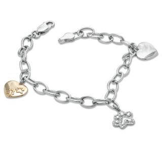 ASPCA® Tender Voices™ Diamond Accent Animal Charm Bracelet in
