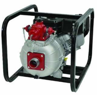 "AMT Pump 2MP5HR Engine Driven Two Stage High Pressure/Fire Pump with Honda GX160 Engine, Aluminum, 5 HP, Curve A, 2"" NPT Female, 3 Way Discharge Industrial Pumps"