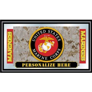 Personalized United States Marine Corp Logo Framed Mirror  Sports Related Merchandise  Sports & Outdoors