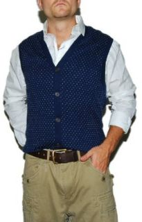 Polo Golf by Ralph Lauren Men Sweater Cardigan Vest (L, Navy/white) at  Men�s Clothing store