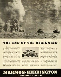 1943 Ad Marmon Herrington All Wheel Drive WWII War Production Military Trucks   Original Print Ad