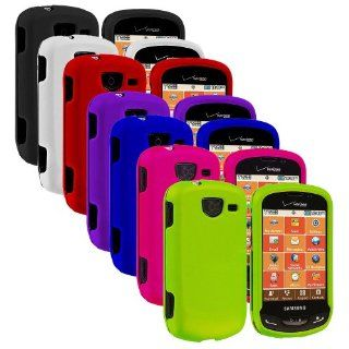 Importer520 7in1 Colorful Combo Rubberized Hard Protector Case Cover for Samsung Brightside U380 Cell Phones & Accessories