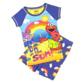 Sesame Street Elmo & Abby Cadabby Toddler Girls Sleepwear Set Size 4T Clothing