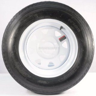 "TWO TRAILER TIRES & RIMS 5.30 12 530 12 5.30 X 12 12"" 4 LUG WHEEL WHITE SPOKE Automotive"
