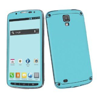 Samsung Galaxy S4 Active SGH i537 (AT&T) Vinyl Skin Decal Sticker   Turquoise Blue By SkinGuardz Cell Phones & Accessories