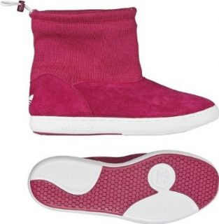 Adidas Originals W Attitude Winter Mid Pink/White Women's Suede Snow Boots (Size 7.5) Dress Boots Shoes