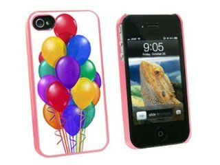 Graphics and More Bunch of Party Balloons   Birthday   Snap On Hard Protective Case for Apple iPhone 4 4S   Pink   Carrying Case   Non Retail Packaging   Pink Cell Phones & Accessories