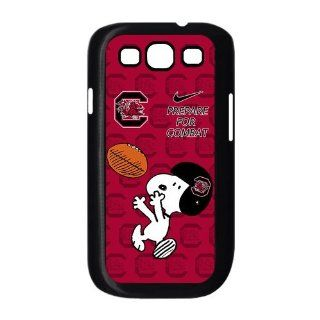 NCAA South Carolina Gamecocks Funny Snoopy Nike Logo Hard Cases Cover for Samsung Galaxy S3 Electronics