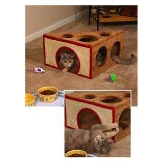Cat Play House Swiss Cheese Play Wedge  Pet Tunnels  Kitchen & Dining
