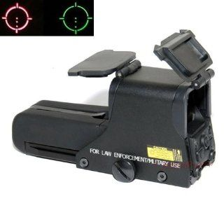 "552 Mil Dot Reticule ""Holo"" Style Red Dot Sight Red & Green Illumination with Flip Covers Sports & Outdoors"