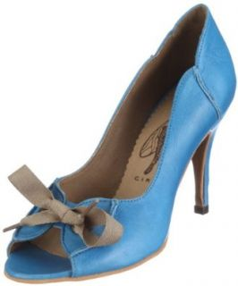 FLY London Women's Babs Open Toe Pump, Blue, 39 EU/8 M US Pumps Shoes Shoes