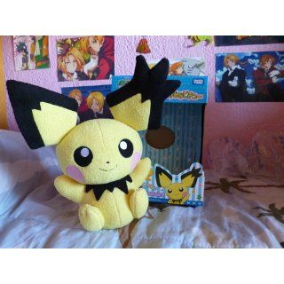 "Takara Tomy Pokemon Black & White Voice Activated Talking Plush Toy   12"" Pichu (Japanese Import) Toys & Games"