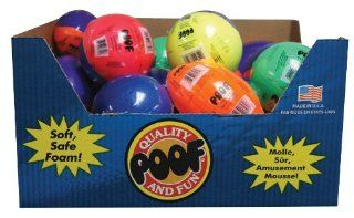POOF Slinky 8 558 POOF Mini Foam Basketball, Football and Spiral Football Assortment, 24 Pack, Assorted Colors Toys & Games
