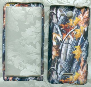 CAMO TREE HUNTER REAL TREE FACEPLATE PROTECTOR HARD RUBBERIZED CASE FOR LG OPTIMUS EXCEED VS840PP / LUCID 4G VS840 VERIZON PREPAID SNAP ON Cell Phones & Accessories