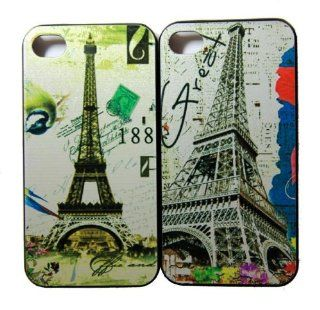 Demarkt Design Series A22Paris Eiffel Tower Image Hard Case for iPhone 4 & 4s((COLOR RANDOM DISTRIBUTION)) Cell Phones & Accessories