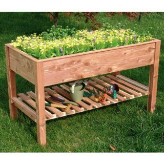 Tierra Garden 4429 Cedar Raised Bed, 47 1/4 Inch Long by 23.6 Inch Wide by 31 1/2 Inch High  Planters  Patio, Lawn & Garden