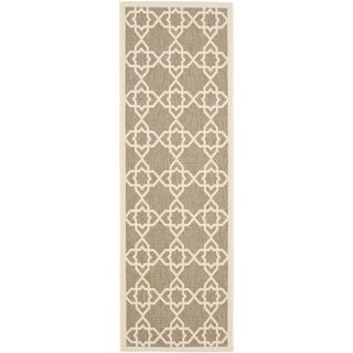 Safavieh Indoor/ Outdoor Courtyard Brown/ Beige Rug (23 X 14)