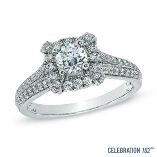 Celebration 102® 1 CT. T.W. Diamond Vintage Style Engagement Ring in