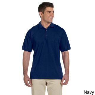 Gildan Gildan Mens Ultra Cotton Jersey Polo Shirt Navy Size L