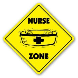 NURSE ZONE Sign xing gift novelty nursing stethoscope supplies careers jobs  Street Signs  Patio, Lawn & Garden