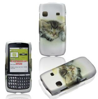 2D Kitty Cat Samsung Replenish M580 Boost Mobile , Sprint Case Cover Hard Phone Case Snap on Cover Rubberized Touch Faceplates Cell Phones & Accessories