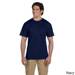 Gildan Mens Dry Blend Pocket T shirt Navy Size XXL
