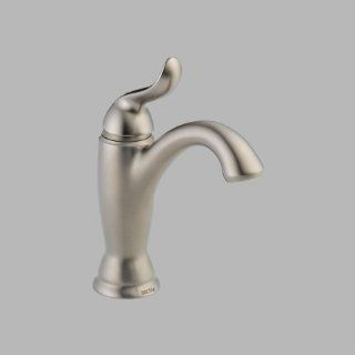 Delta 594 SSMPU DST Linden Single Hole Bathroom Faucet with Diamond Seal Technology   Includes Drain, Brilliance Stainless   Touch On Bathroom Sink Faucets