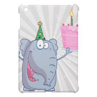 funny happy birthday elephant cartoon iPad mini cases
