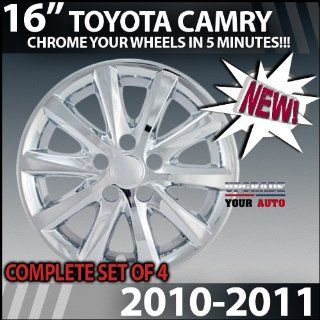 "2010 2011 Toyota Camry 16"" Chrome wheel Skins ""Factory Style"" Automotive"