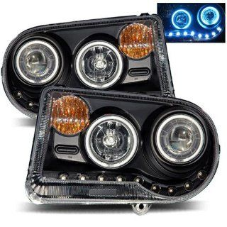 Chrysler 300 Black CCFL Halo Projector Headlights G2   Fits C,C SRT8 Sedan 4 Door Automotive