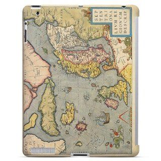 [Geeks Designer Line] Ancient Map of Europe Apple iPad 2nd Gen Plastic Case Cover [Anti Slip] Supports Premium High Definition Anti Scratch Screen Protector; Durable Fashion Snap on Hard Case; Coolest Ultra Slim Case Cover for iPad 2nd Gen Supports Apple 2