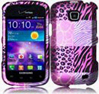 Pink Leopard Zebra Print Hard Cover Case for Samsung Illusion SCH i110 Cell Phones & Accessories
